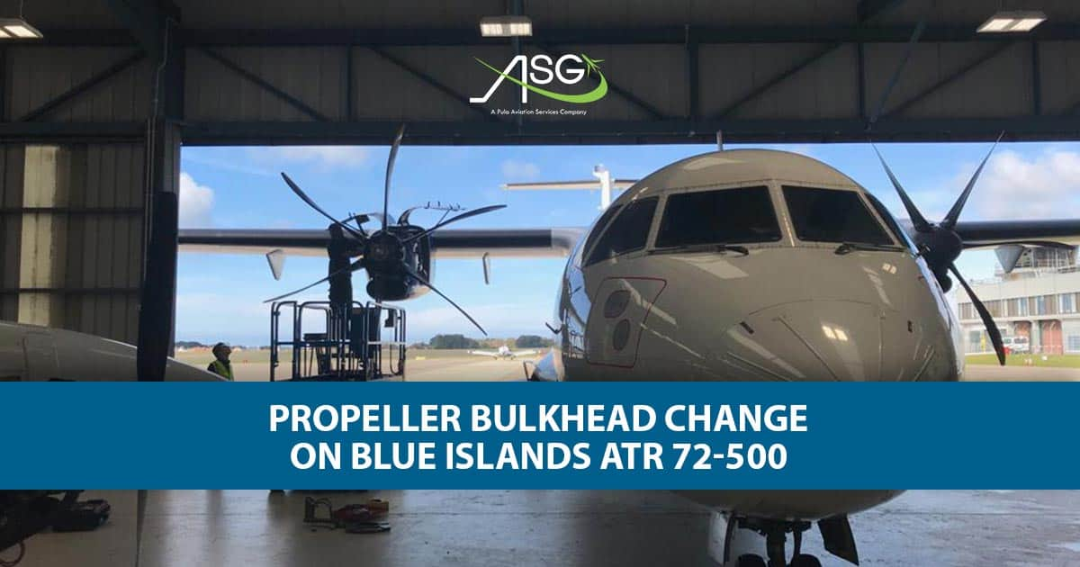 image of propeller bulkhead change on blue islands atr 72 500